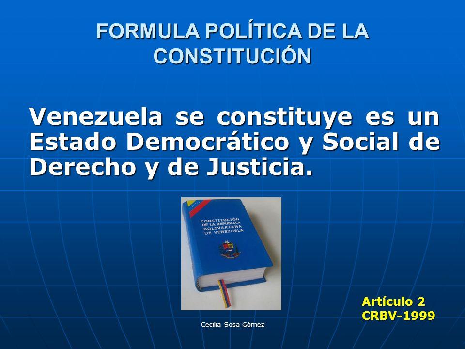 FORMULA POLÍTICA DE LA CONSTITUCIÓN