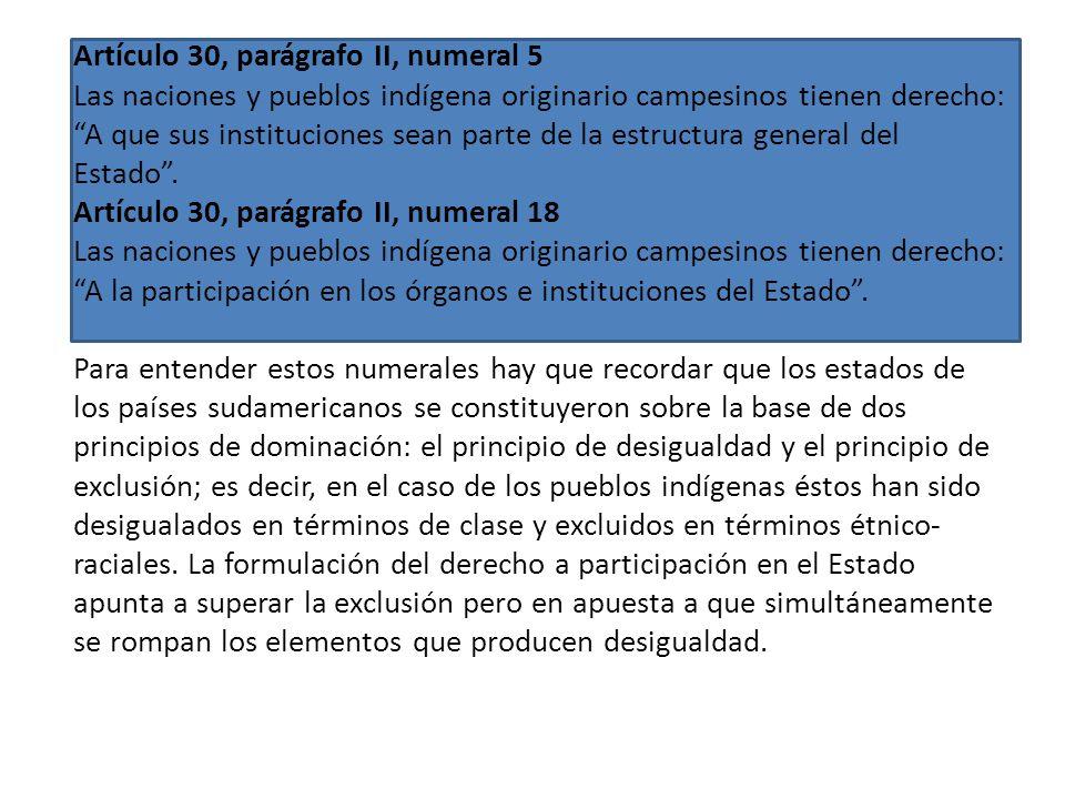Artículo 30, parágrafo II, numeral 5