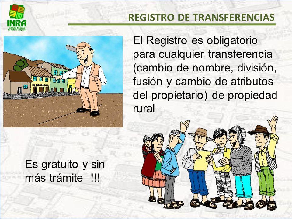 REGISTRO DE TRANSFERENCIAS