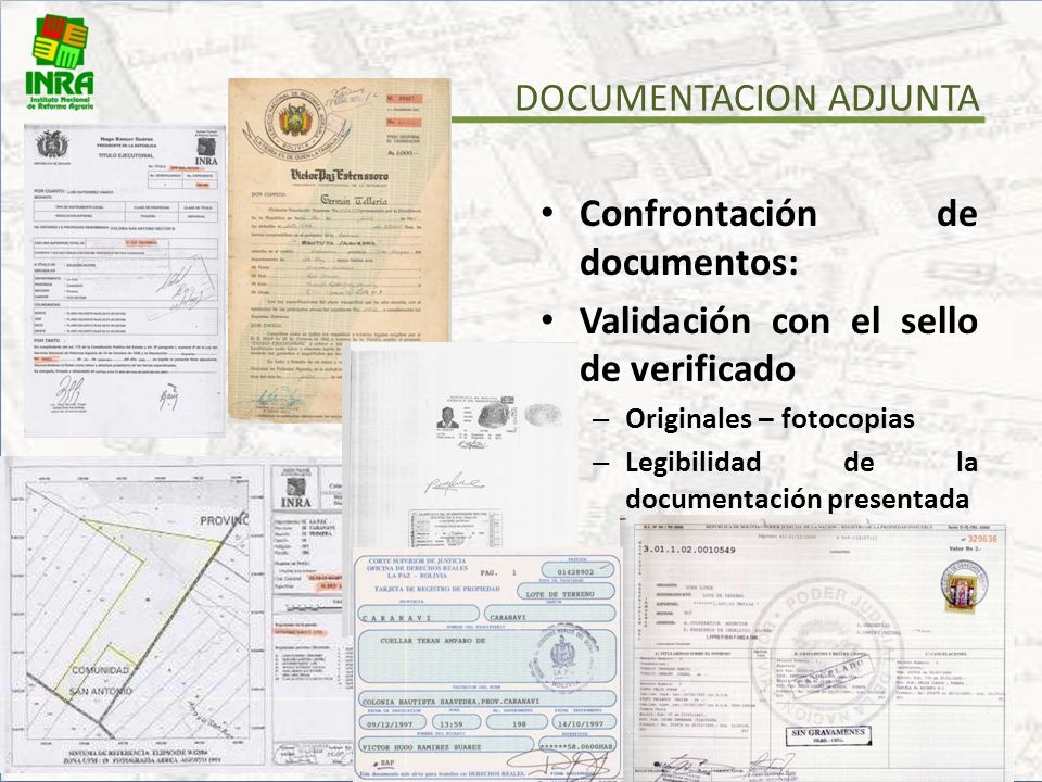 DOCUMENTACION ADJUNTA
