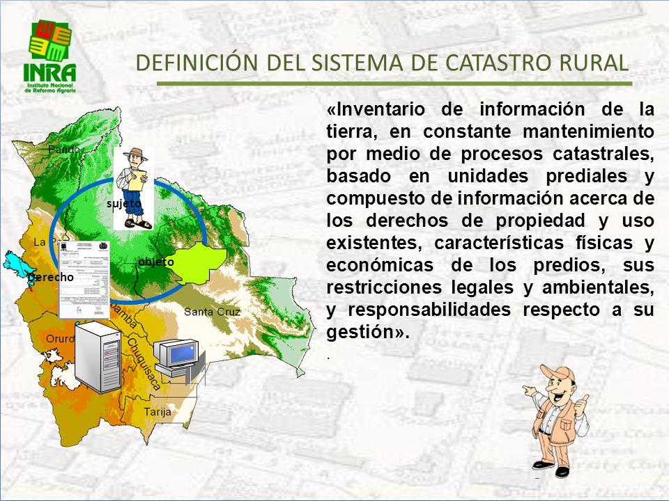 DEFINICIÓN DEL SISTEMA DE CATASTRO RURAL
