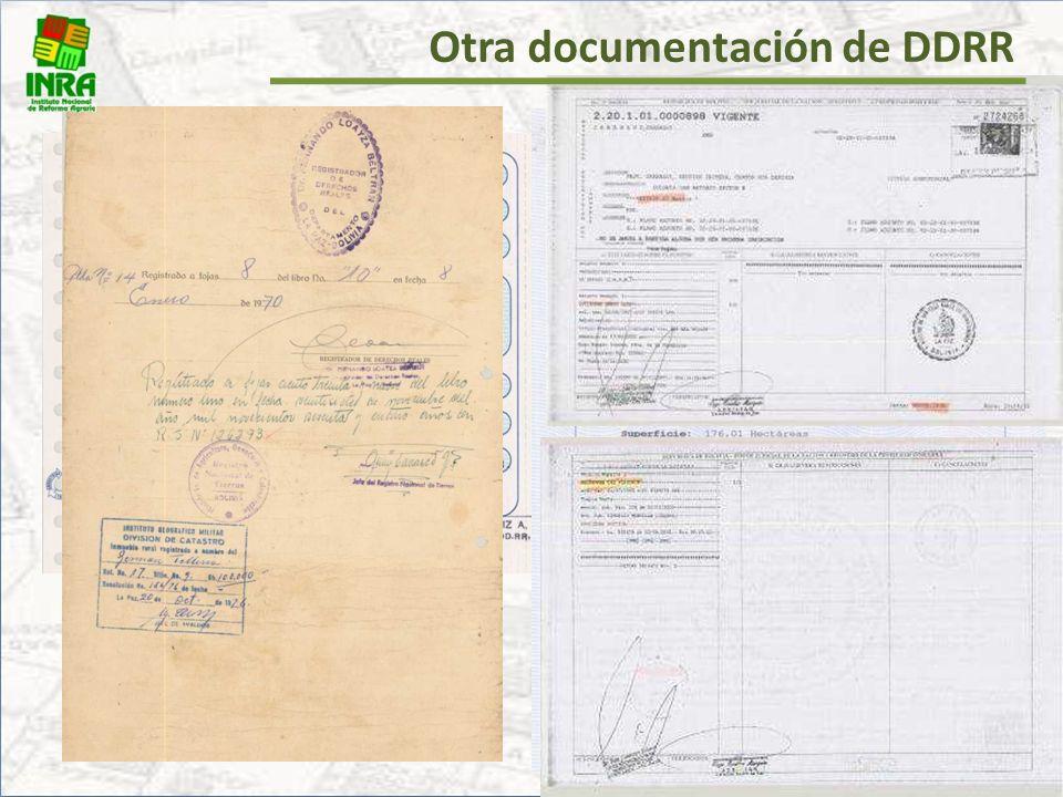 Otra documentación de DDRR