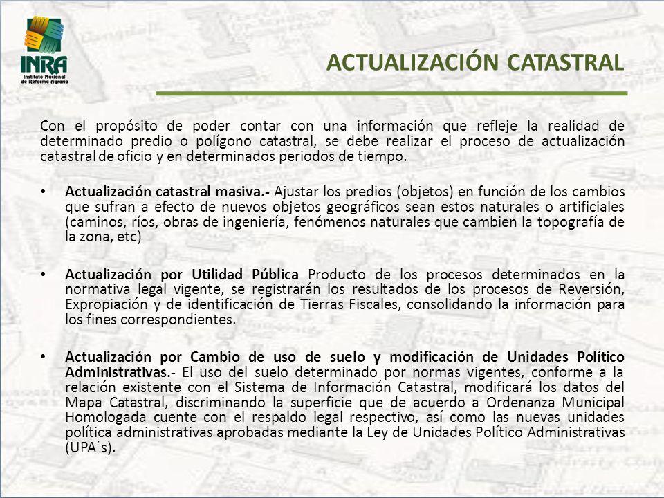 ACTUALIZACIÓN CATASTRAL