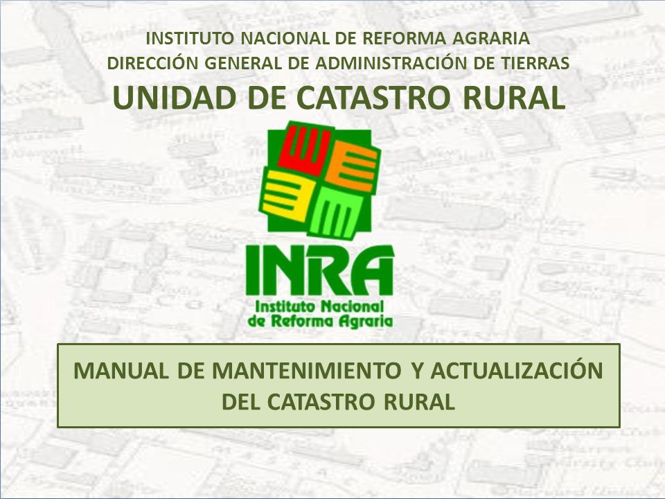 MANUAL DE MANTENIMIENTO Y ACTUALIZACIÓN DEL CATASTRO RURAL
