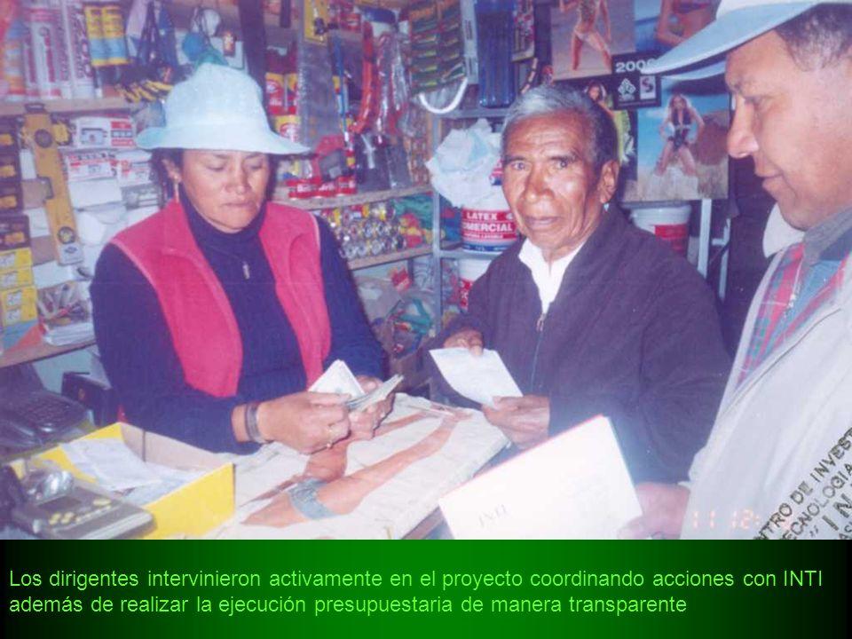 Los dirigentes intervinieron activamente en el proyecto coordinando acciones con INTI