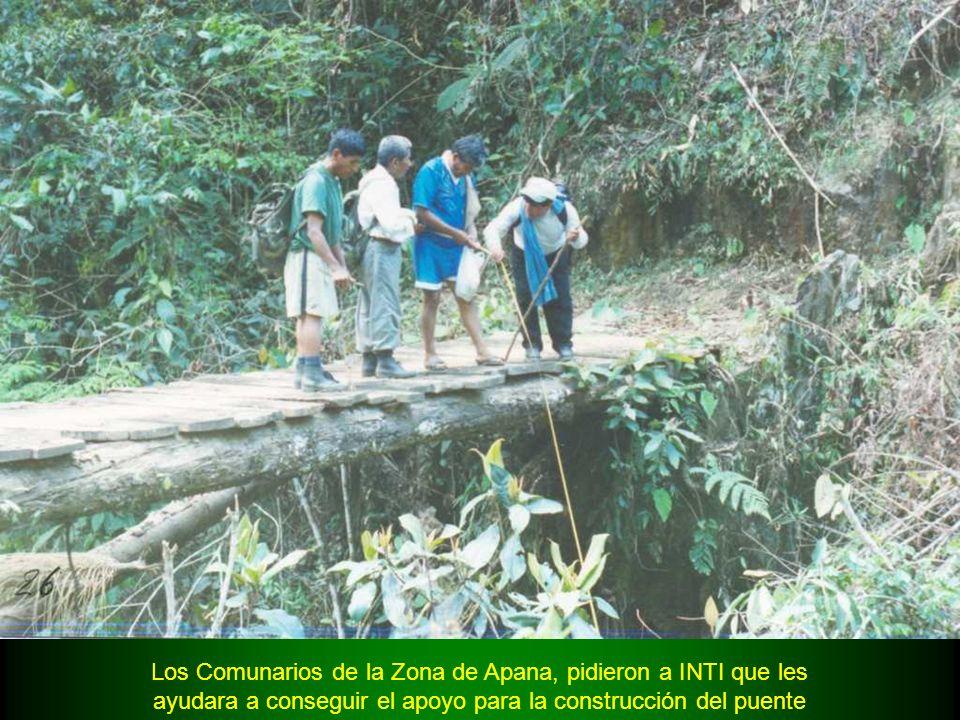 Los Comunarios de la Zona de Apana, pidieron a INTI que les