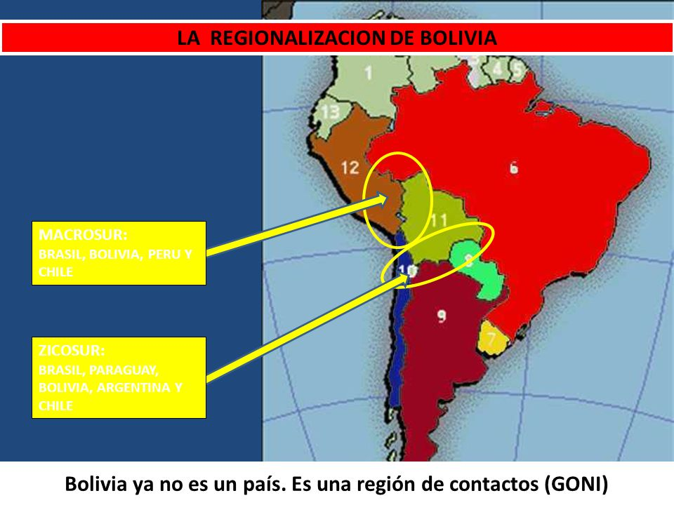 LA REGIONALIZACION DE BOLIVIA