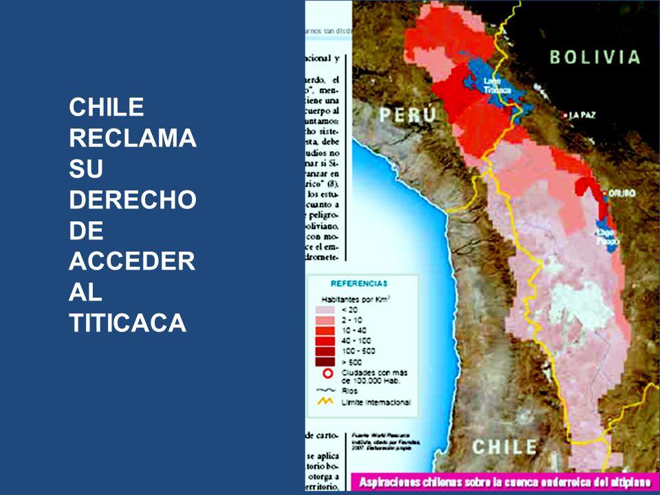 CHILE RECLAMA SU DERECHO DE ACCEDER AL TITICACA