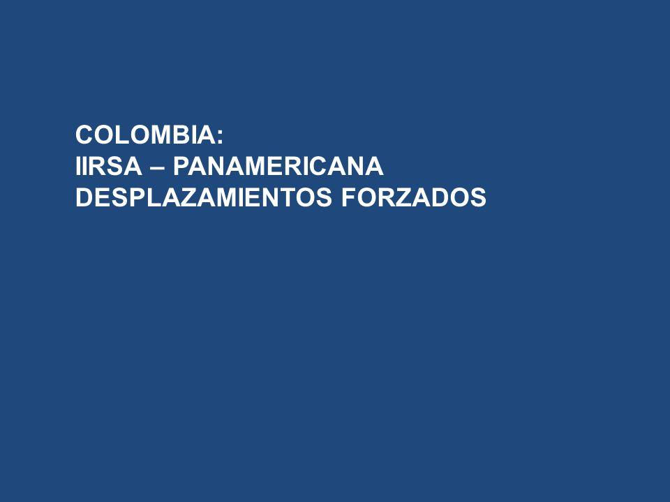 COLOMBIA: IIRSA – PANAMERICANA DESPLAZAMIENTOS FORZADOS