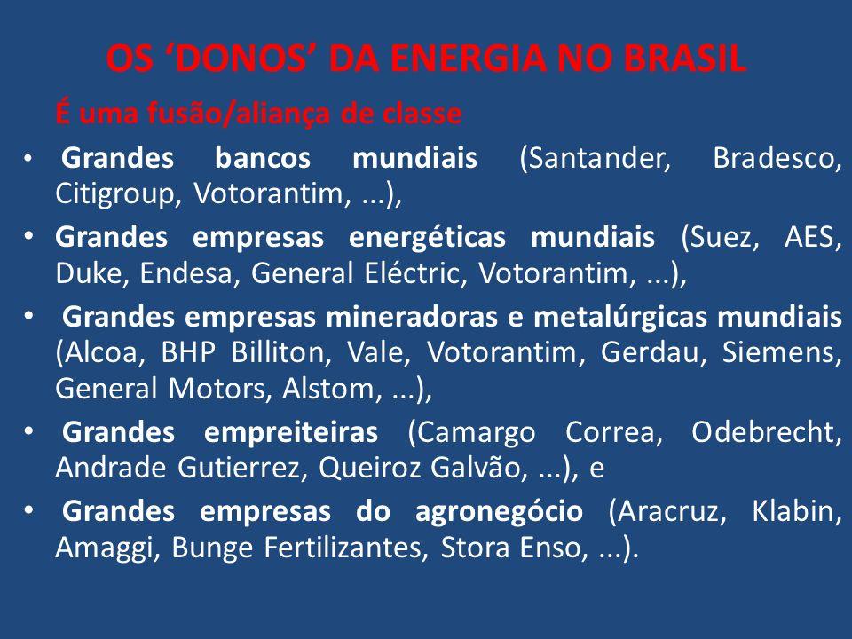 OS 'DONOS' DA ENERGIA NO BRASIL