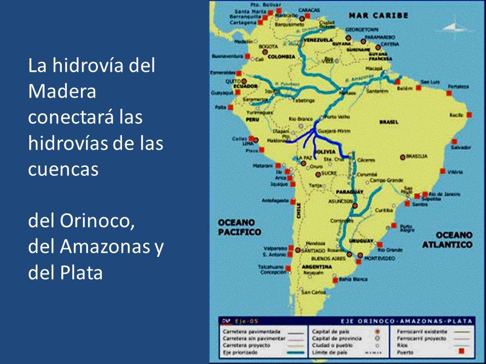 La hidrovía del Madera conectará las hidrovías de las cuencas