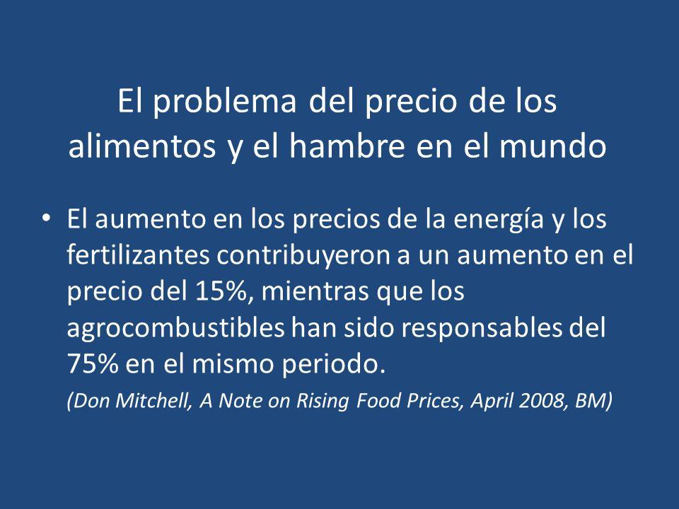 El problema del precio de los alimentos y el hambre en el mundo