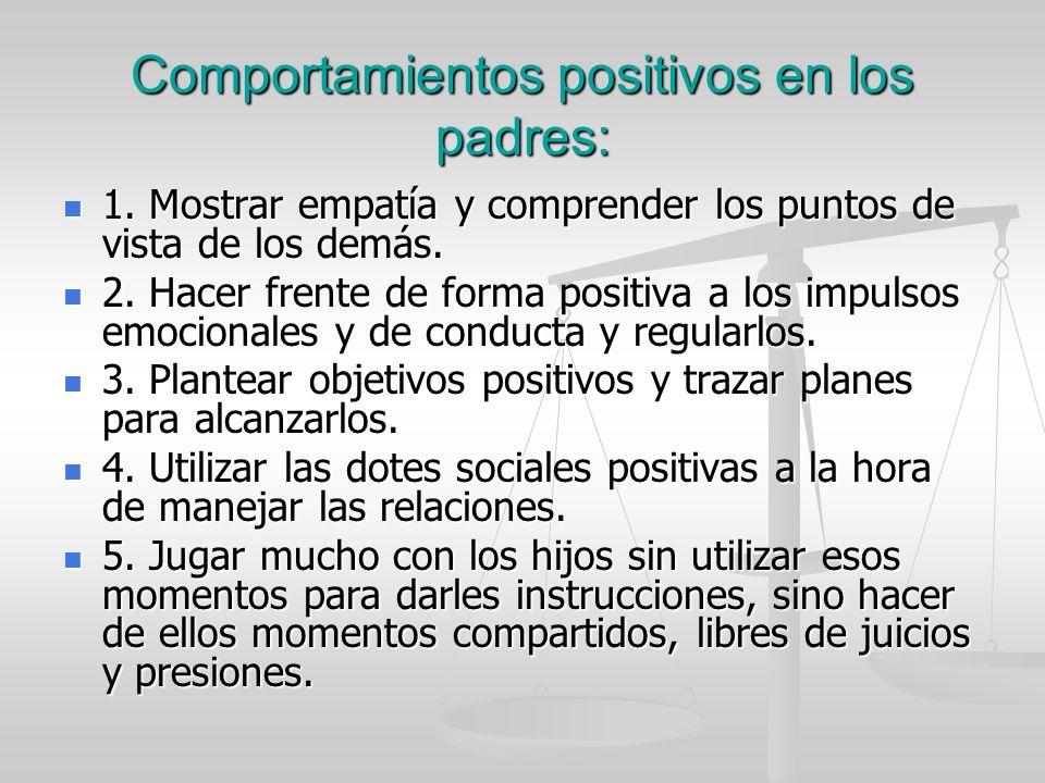 Comportamientos positivos en los padres: