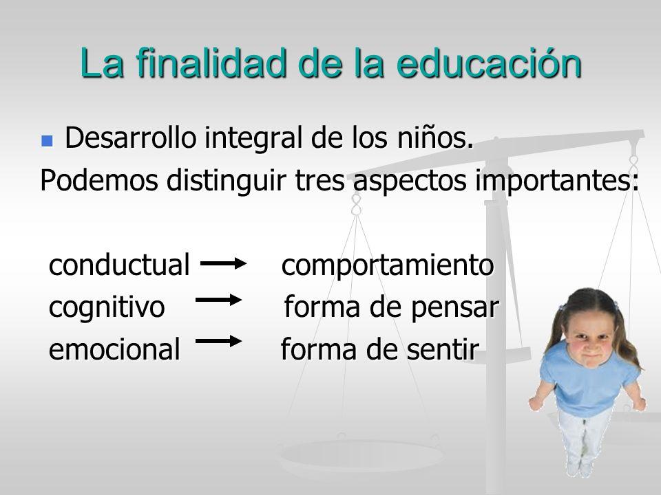 La finalidad de la educación