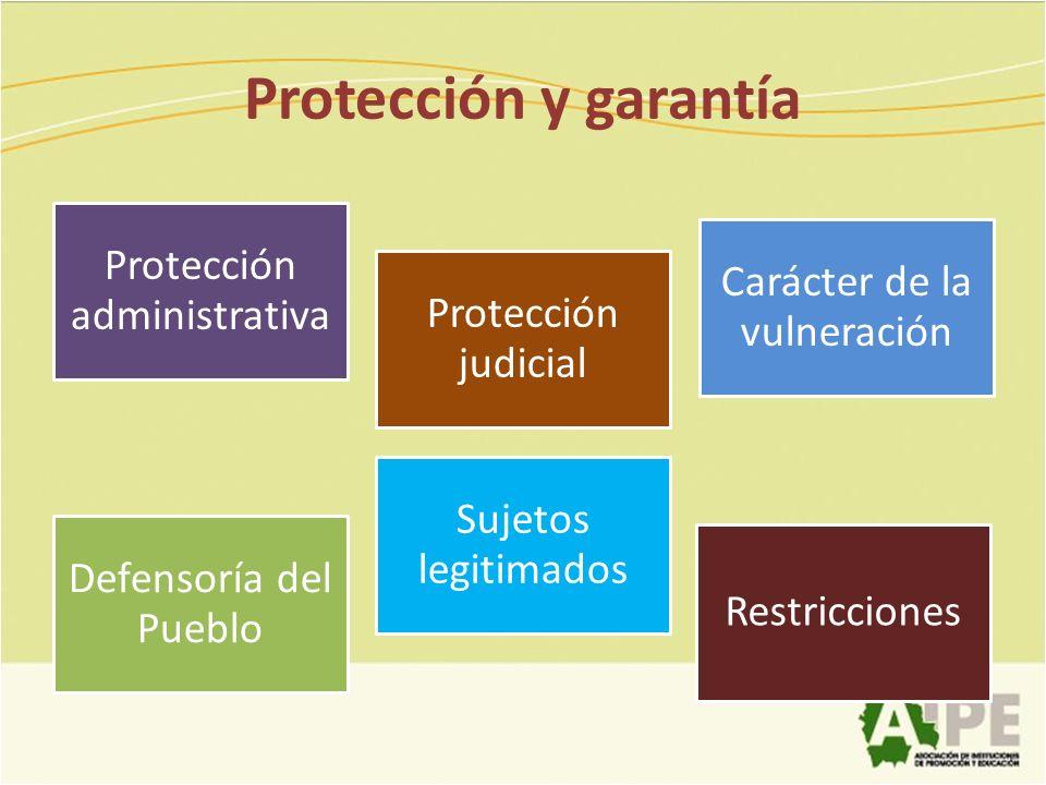 Protección y garantía Protección administrativa