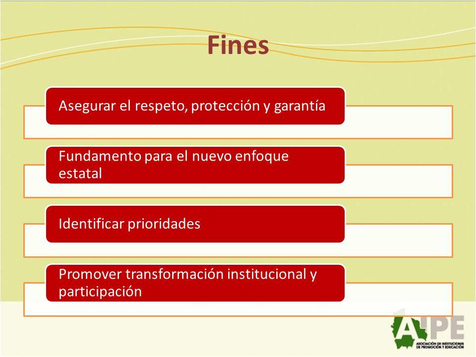 Fines Asegurar el respeto, protección y garantía