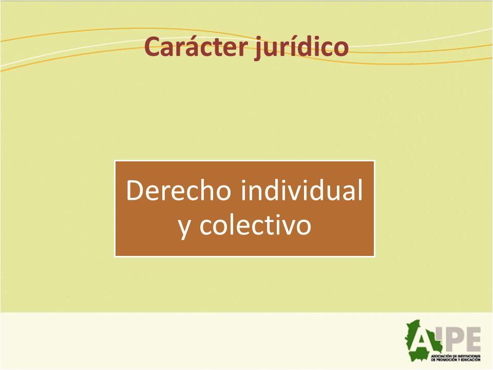 Derecho individual y colectivo