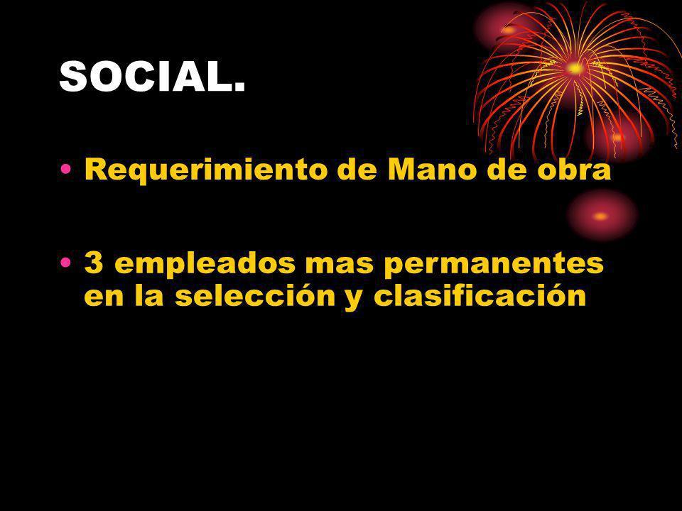 SOCIAL. Requerimiento de Mano de obra
