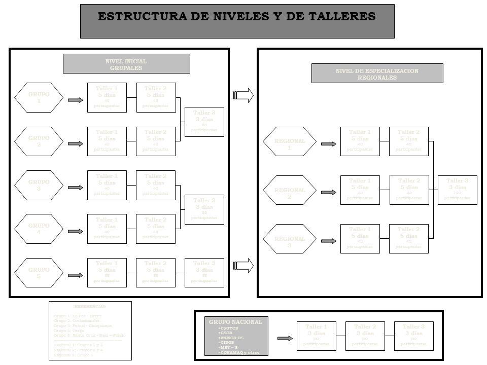 ESTRUCTURA DE NIVELES Y DE TALLERES NIVEL DE ESPECIALIZACION