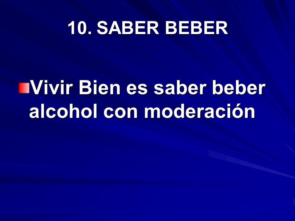 Vivir Bien es saber beber alcohol con moderación