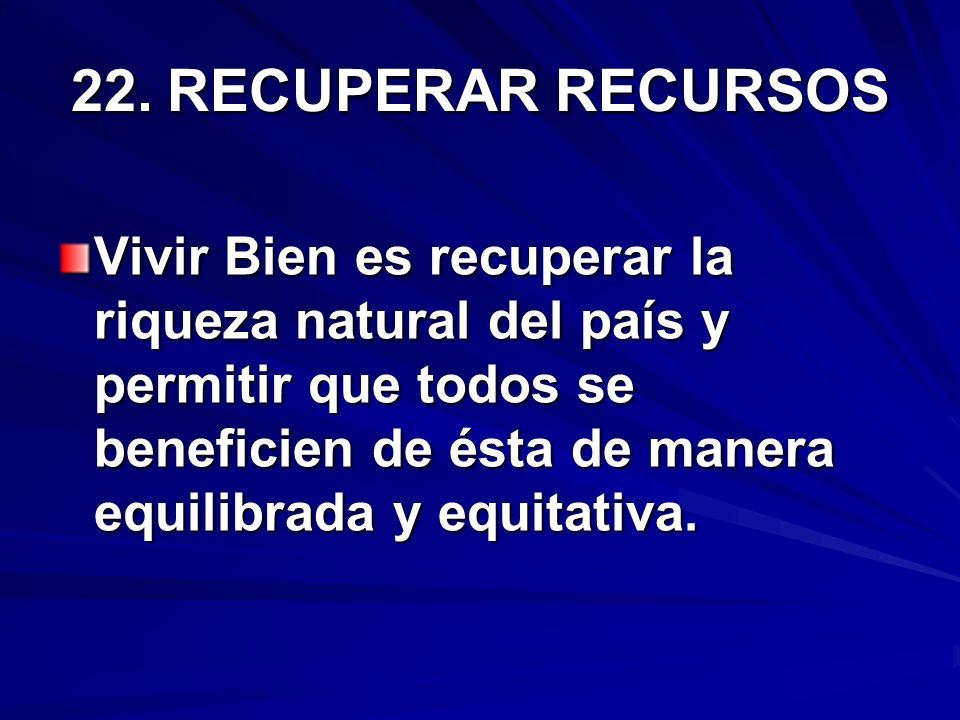 22. RECUPERAR RECURSOS