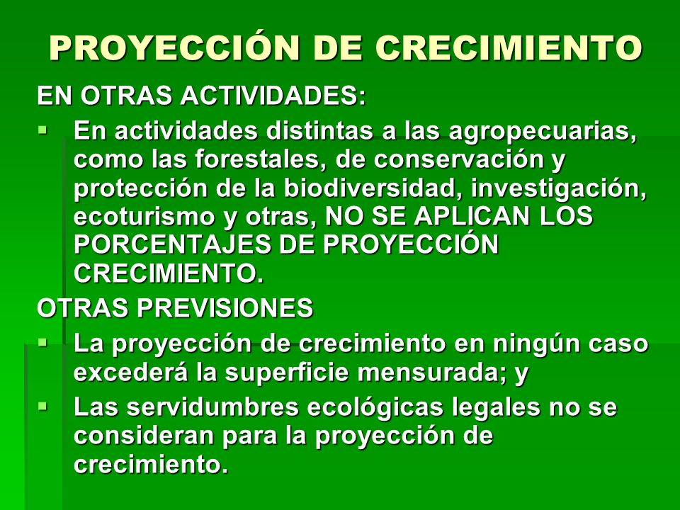 PROYECCIÓN DE CRECIMIENTO