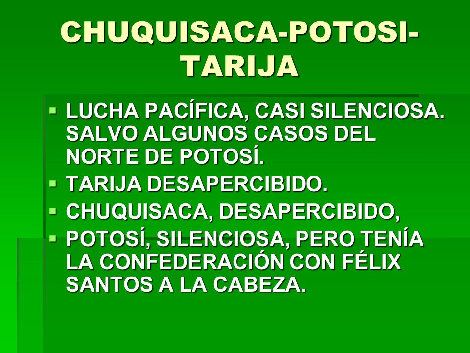 CHUQUISACA-POTOSI-TARIJA