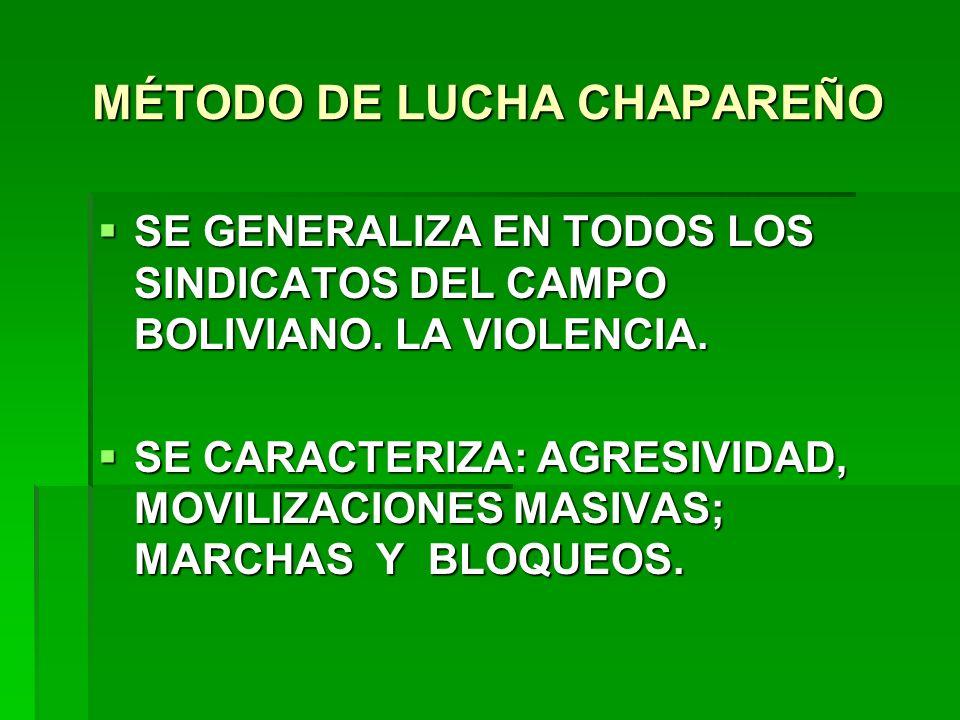 MÉTODO DE LUCHA CHAPAREÑO