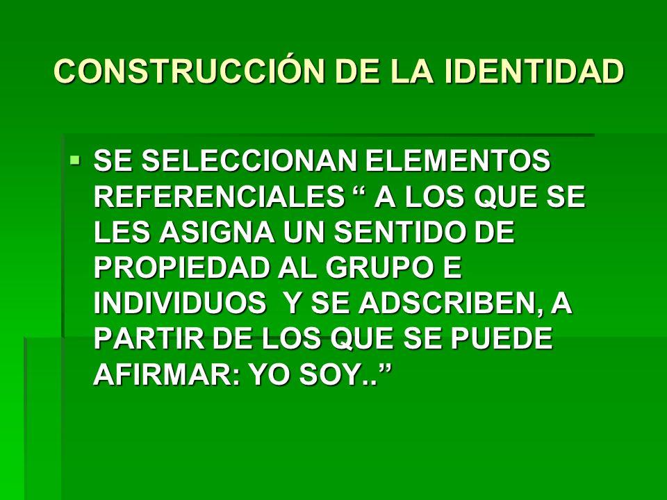 CONSTRUCCIÓN DE LA IDENTIDAD