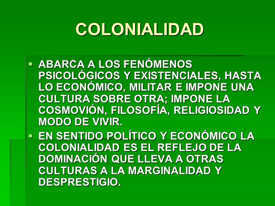 COLONIALIDAD