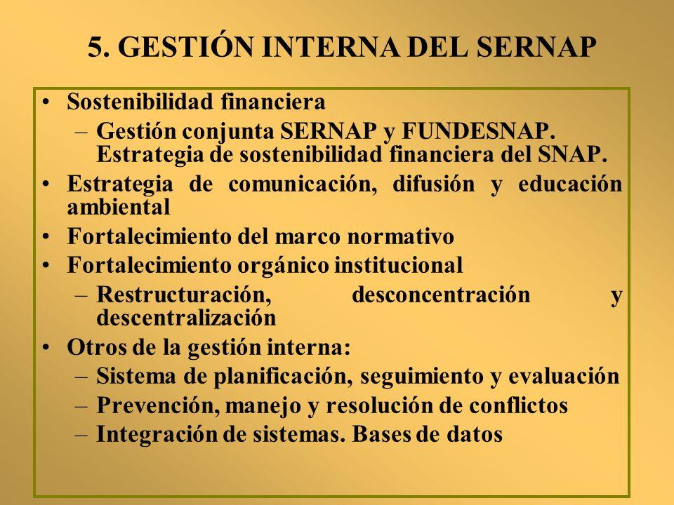 5. GESTIÓN INTERNA DEL SERNAP