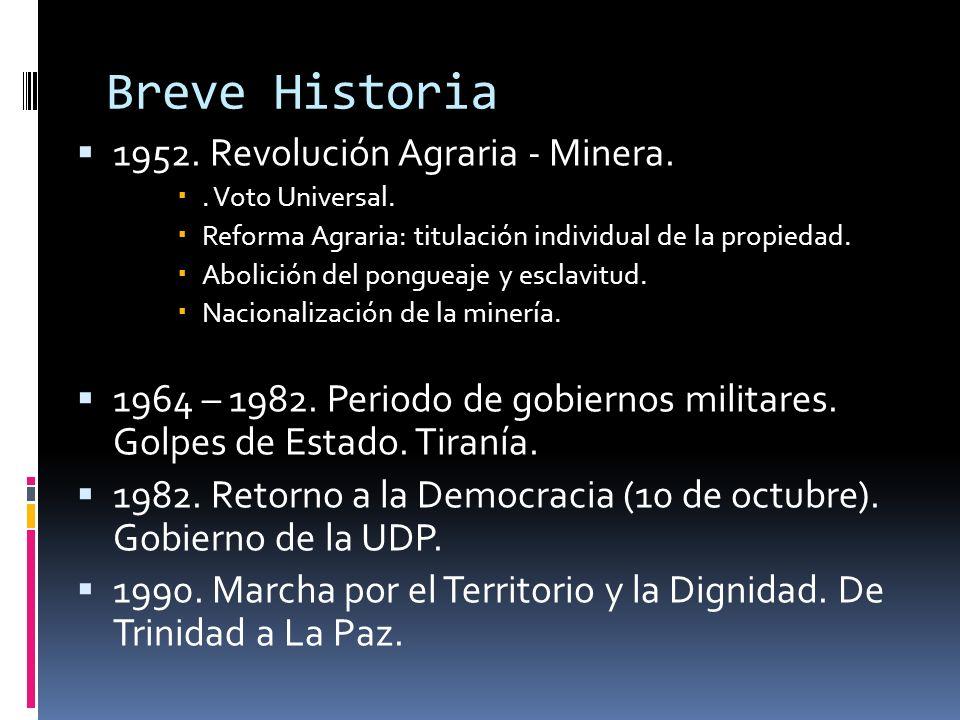Breve Historia 1952. Revolución Agraria - Minera.