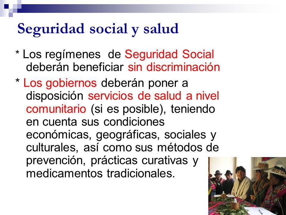 Seguridad social y salud