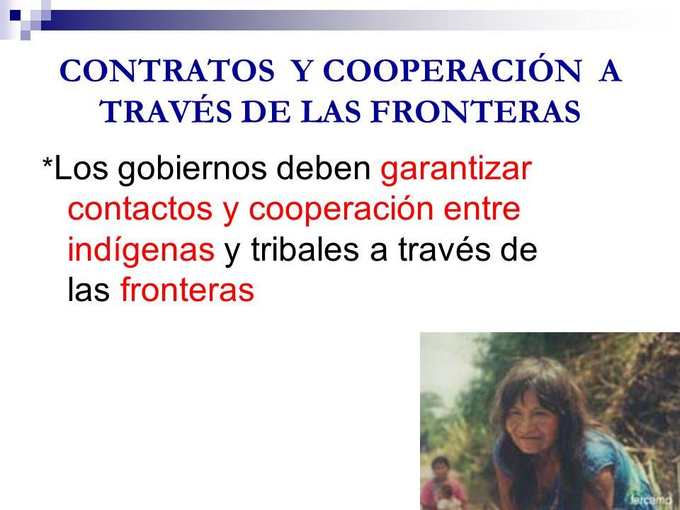 CONTRATOS Y COOPERACIÓN A TRAVÉS DE LAS FRONTERAS