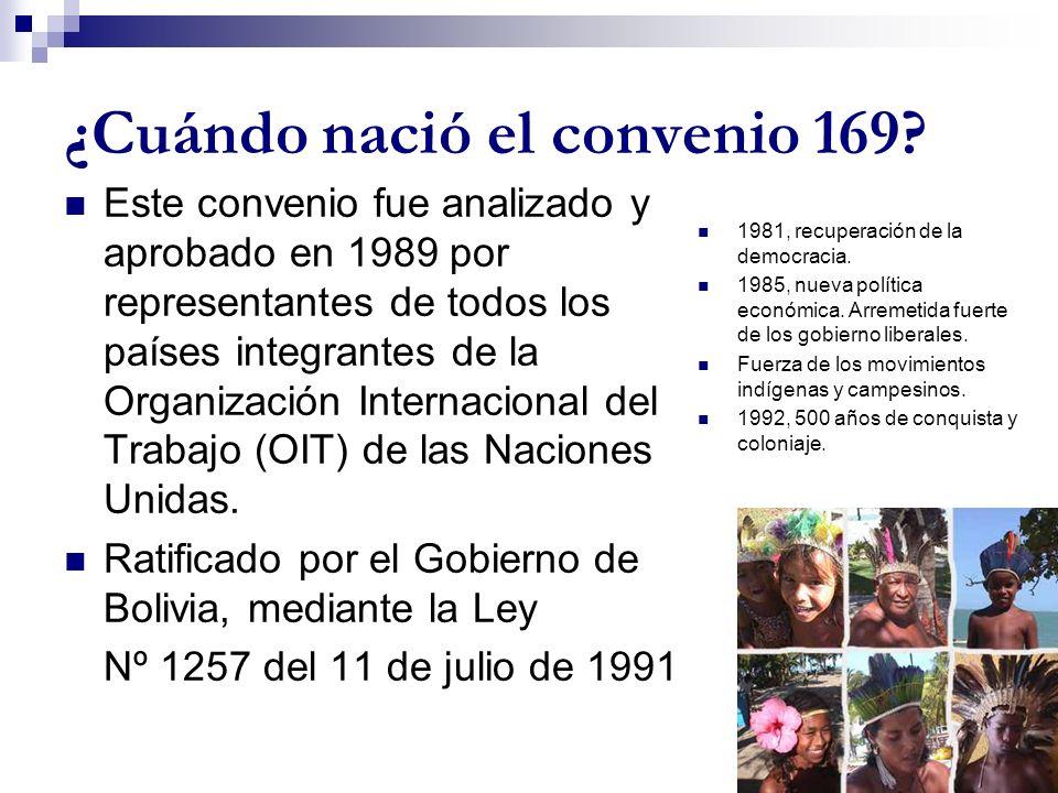 ¿Cuándo nació el convenio 169