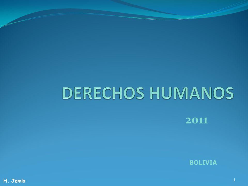 DERECHOS HUMANOS 2011 BOLIVIA H. Jemio