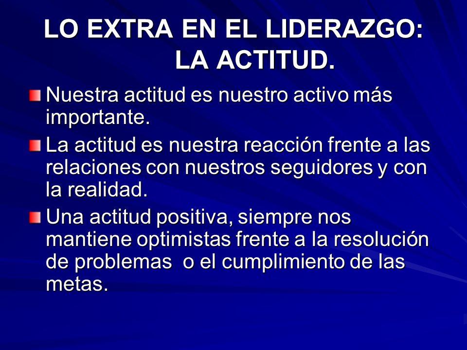 LO EXTRA EN EL LIDERAZGO: LA ACTITUD.