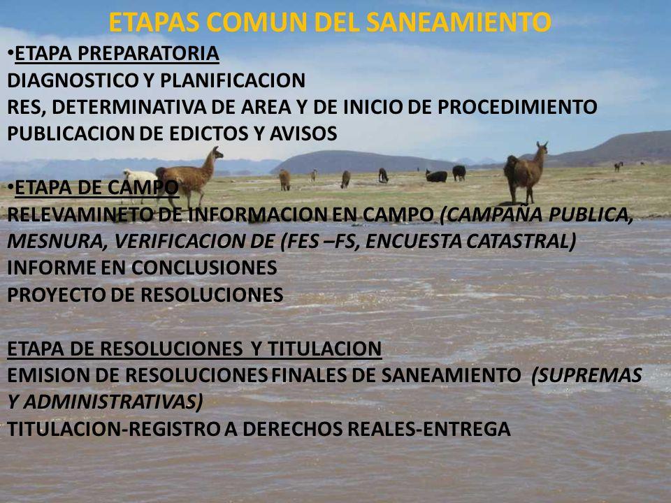 ETAPAS COMUN DEL SANEAMIENTO