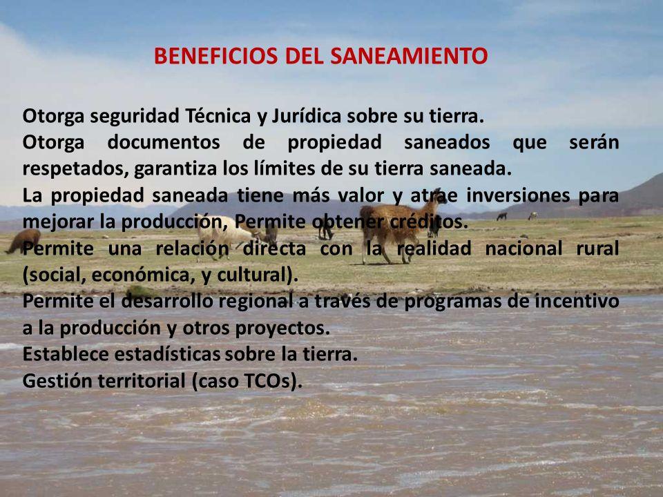 BENEFICIOS DEL SANEAMIENTO