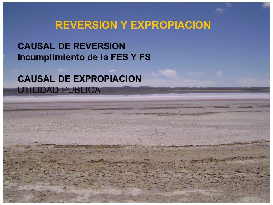 REVERSION Y EXPROPIACION