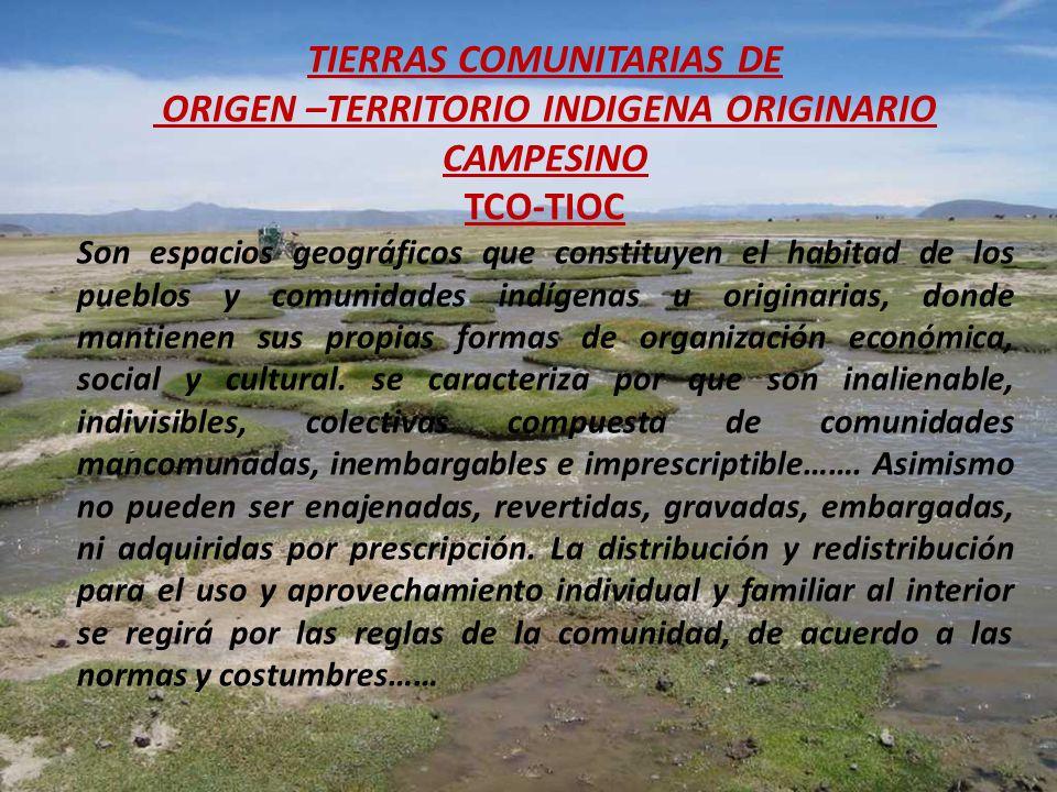 TIERRAS COMUNITARIAS DE