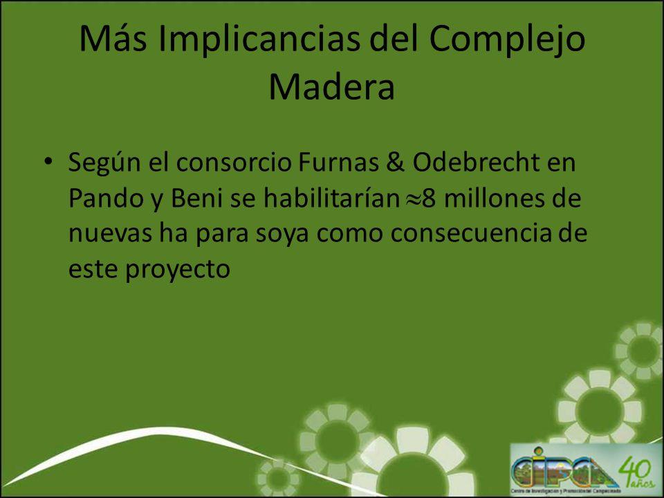 Más Implicancias del Complejo Madera