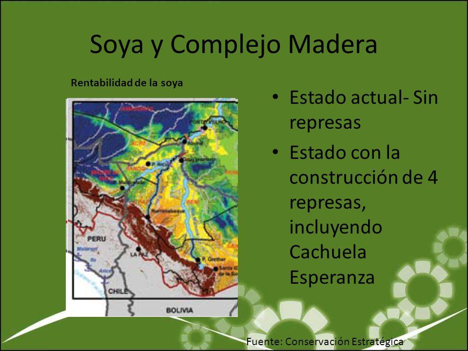 Soya y Complejo Madera Estado actual- Sin represas