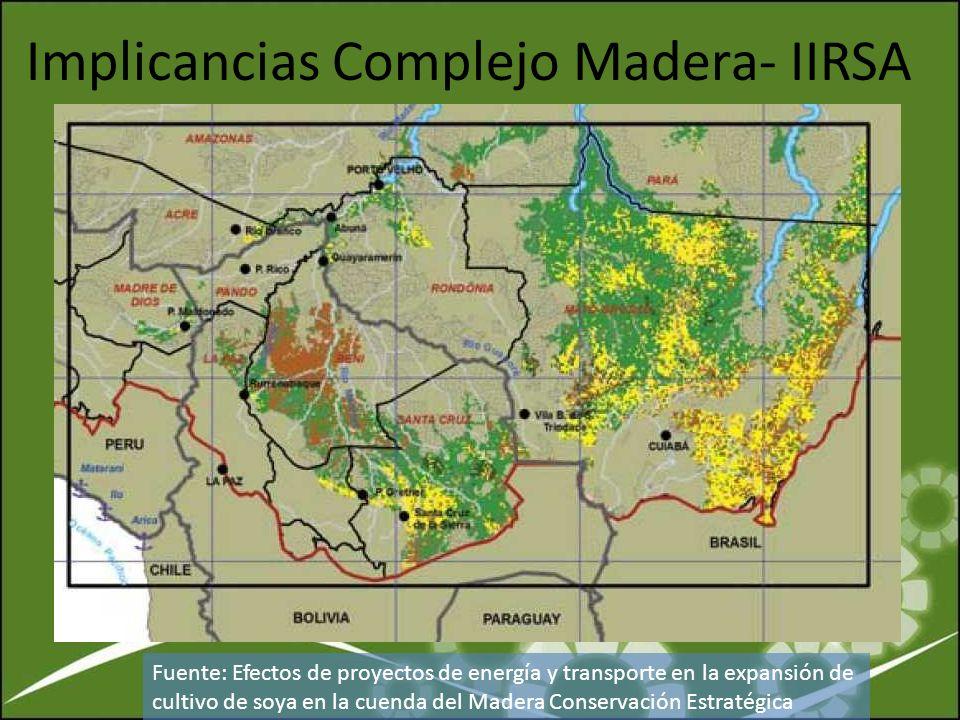 Implicancias Complejo Madera- IIRSA
