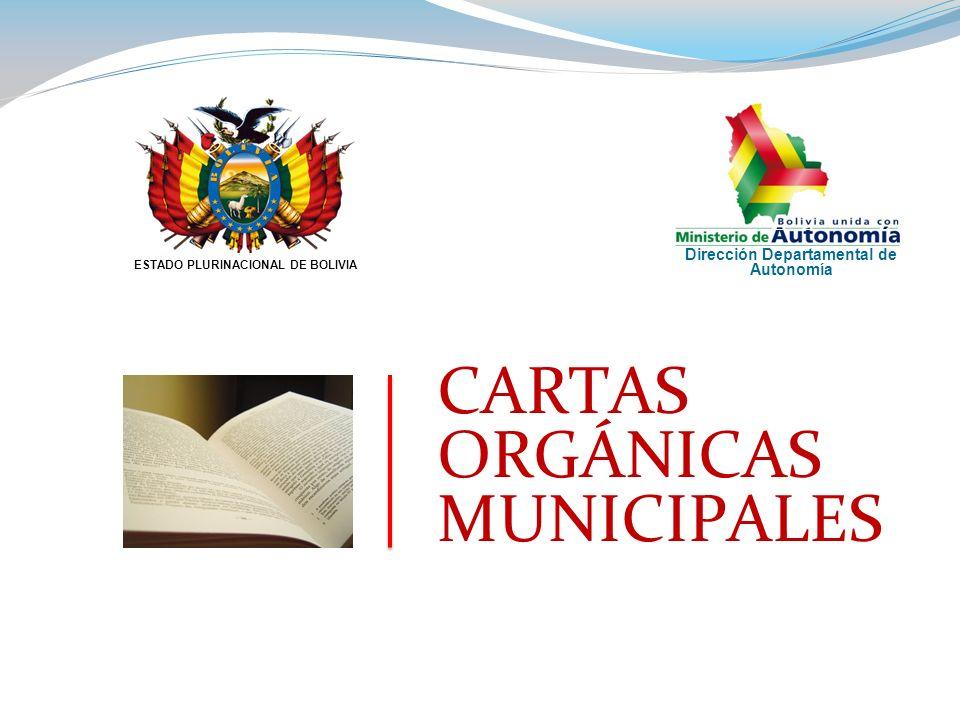 CARTAS ORGÁNICAS MUNICIPALES