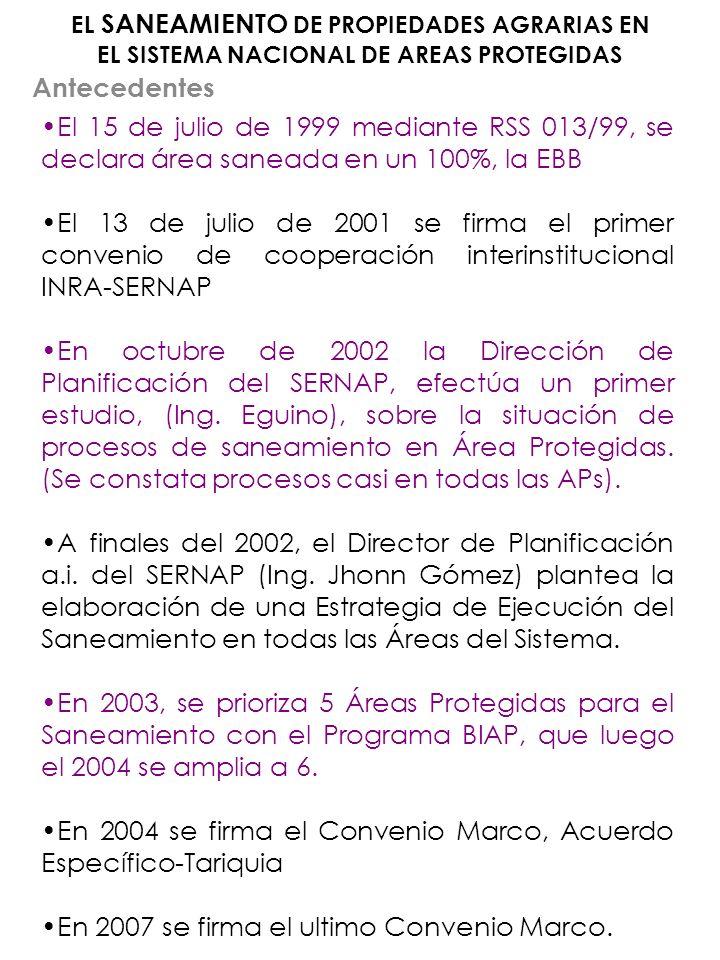 En 2004 se firma el Convenio Marco, Acuerdo Específico-Tariquia