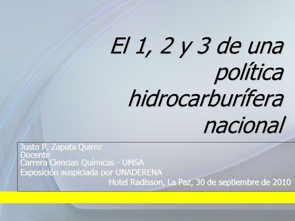 El 1, 2 y 3 de una política hidrocarburífera nacional