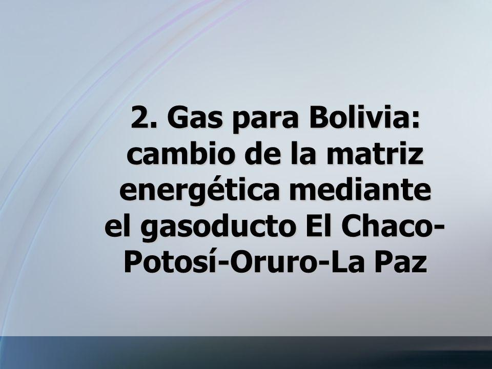2. Gas para Bolivia: cambio de la matriz energética mediante el gasoducto El Chaco-Potosí-Oruro-La Paz