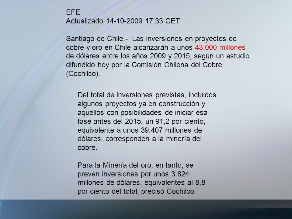 EFE Actualizado 14-10-2009 17:33 CET.