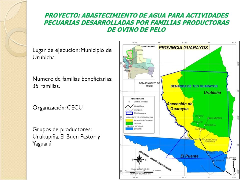 PROYECTO: ABASTECIMIENTO DE AGUA PARA ACTIVIDADES PECUARIAS DESARROLLADAS POR FAMILIAS PRODUCTORAS DE OVINO DE PELO